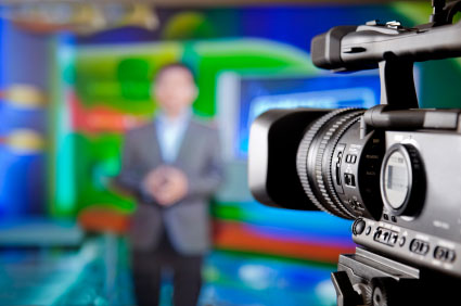 stock photo tv news