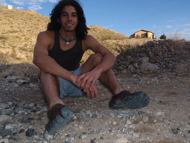 Matthew Maldonado and his Vibram shoes (Courtesy of Richard Barajas)