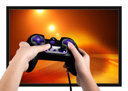 Video gamer hands