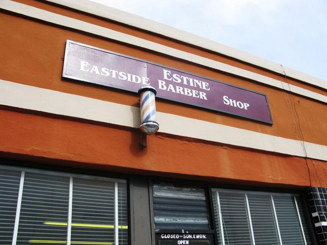 Estine's Eastside Barbershop (Eddie Delgado/Borderzine.com)