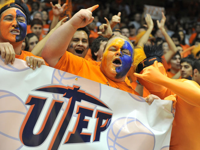 Only four basketball home games were sold out this season, one of the best in Miners history. (Photo by Brian Kanof, courtesy of UTEP Athletics)