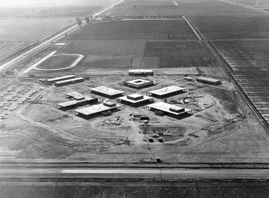 Aerial view of Imperial Valley College in 1959