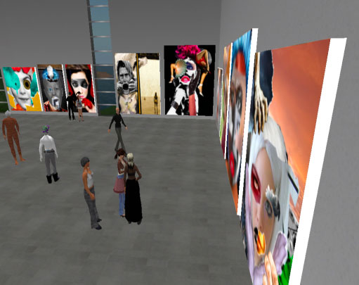Professor Dunn's students review and critic work by their peers at the XSITE Art Gallery. (Courtesy of UTEP's Instructional Support Services)