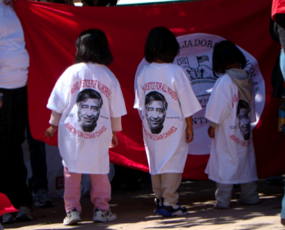 Texas State Board of Education turns its back on César Chávez. (Mireya Toy/Borderzine.com)