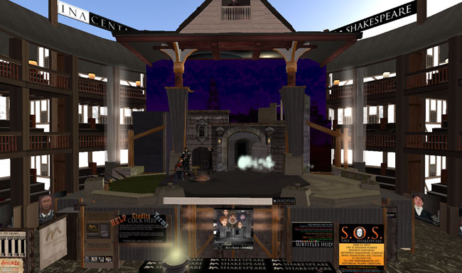 UTEP students from the Shakespeare and British Theater class recently attended a performance by the Metaverse Shakespeare Company on Second Life. (Bradamante Seranno/Borderzine.com)