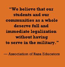 Association of Raza Educators quote
