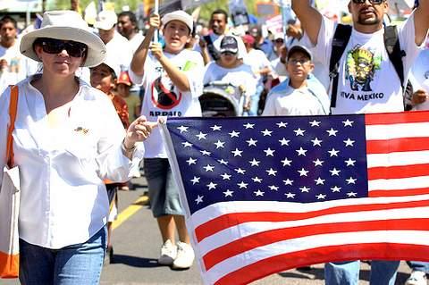 Americans. (George Thomson/Borderzine.com)