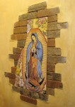 Virgin in Old Mesilla. This Virgen can be seen in one of Old Mesilla's many restaurants. (David A. Gomez/Borderzine.com)
