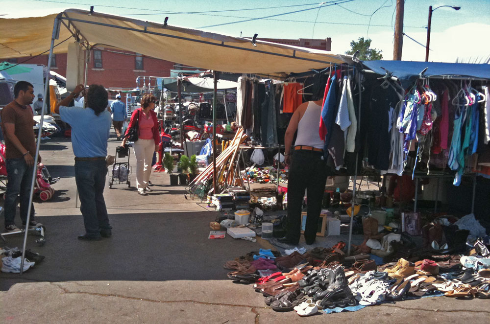 flee market at downtown El Paso