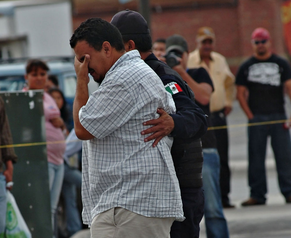 Rio Grande Mall parking lot after the attack to El Diario photojournalists. (Staff El Diario de Juárez)