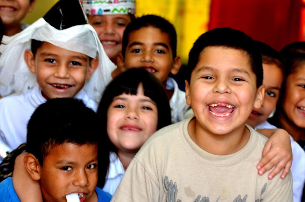 The beautiful faces of Kino kids. (George Thomson)