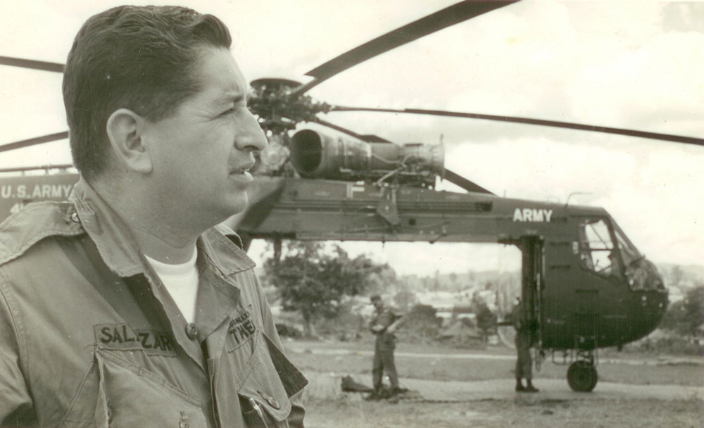 Salazar, in 1965 photo, reported from the danger-filled battlefields of Vietnam for L.A. Times.