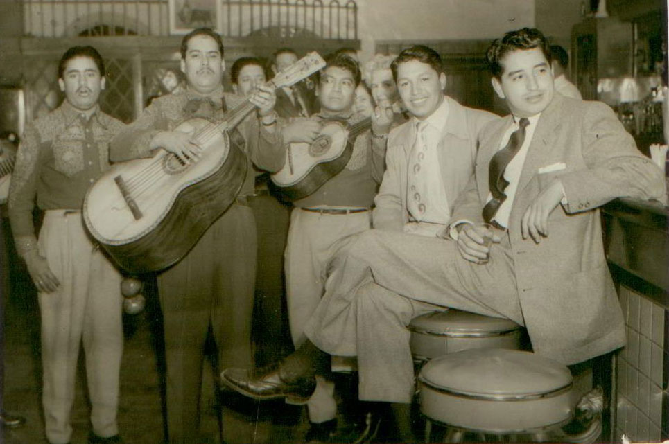 Born in Ciudad Juarez and raised in El Paso, Salazar (right) loved both Mexican music and standard American hits.