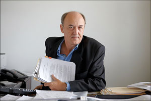 Ricardo Trotti, pictured in his Miami office, has been the director of the Inter American Press Association's Project Against Impunity since the program's inception in 1995. (Courtesy of Knight Foundation)