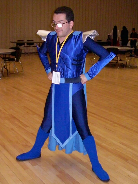 "Ruben Rascon III, dress as his original character ""Sonic Man"", won the Judge's Pick award at this year's Las Cruces Anime Day. (Photo courtesy of Alicia Nicole Bracken)"