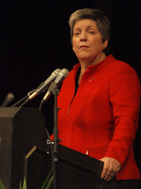 Department of Homeland Security Secretary Janet Napolitano (Robert Brown/Borderzine.com)