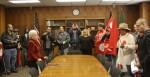 UTEP President, Diana Natalicio, meets with Pete Duarte and Chicano leaders. (Raymundo Aguirre/Borderzine.com)