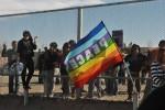Peace was the common chant at both sides of the border on the Día de Acción (Saray Argumedo/Borderzine.com)