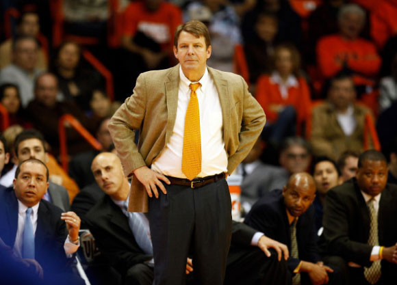 Coach Tim Floyd at the UTEP vs Tulsa game. (Ivan Pierre Aguirre/Courtesy of UTEP Athletics)