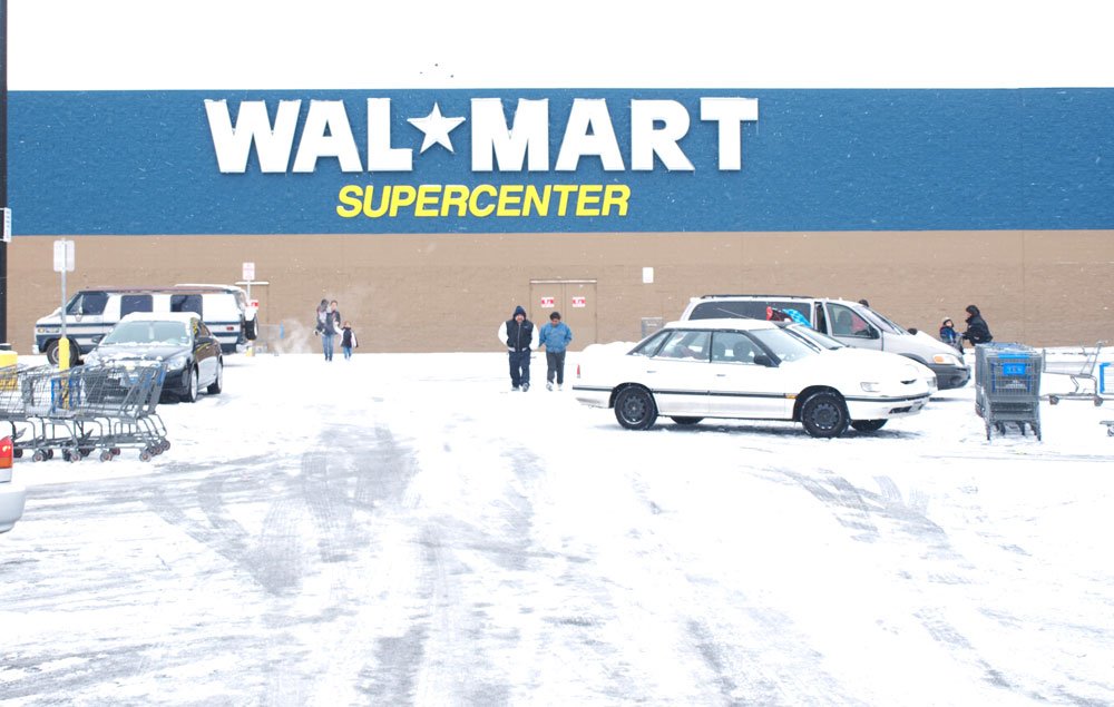 The WalMart at Woodrow Bean was also affected by power outages. (Robert Brown/Borderzine.com)
