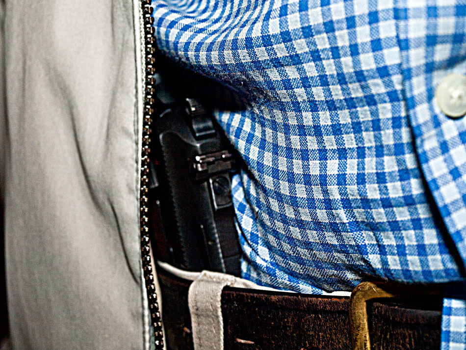 Concealed weapons on campus. Do you agree? (Robert Brown/Borderzine)