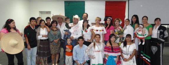 Macias' flock celebrating September 16. (Courtesy of Ramiro Macias)