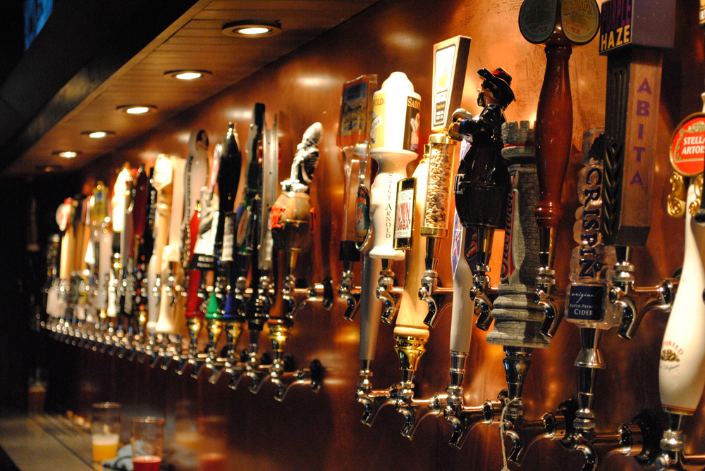 The largest selection of craft beer drafts in El Paso is located at the Hoppy Monk. (Omar Lozano/Borderzine.com)