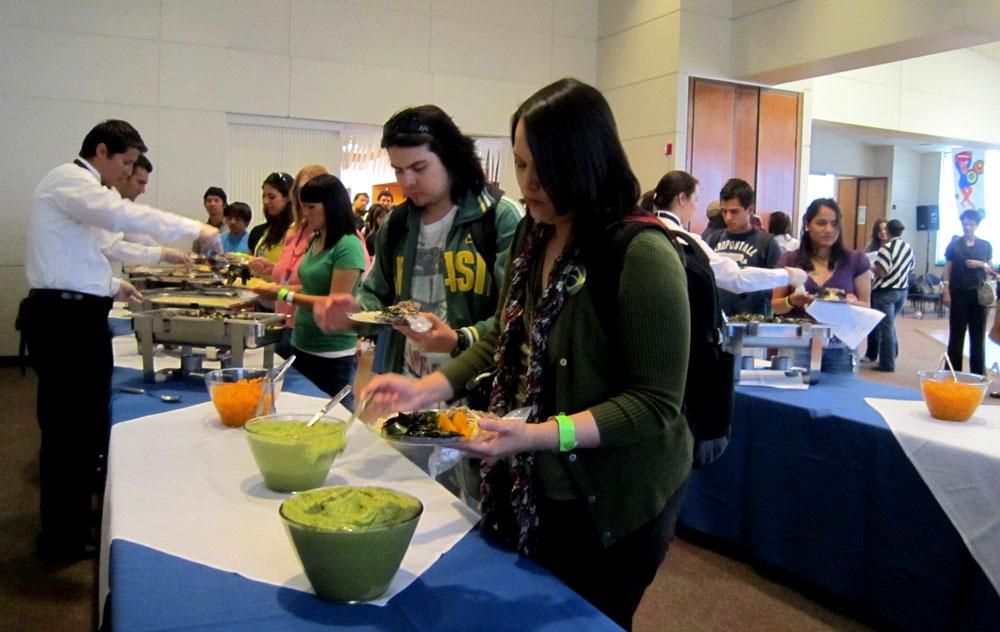 Avocado as dessert was one of the surprises on the buffet. (Adriana Macias/Borderzine.com)