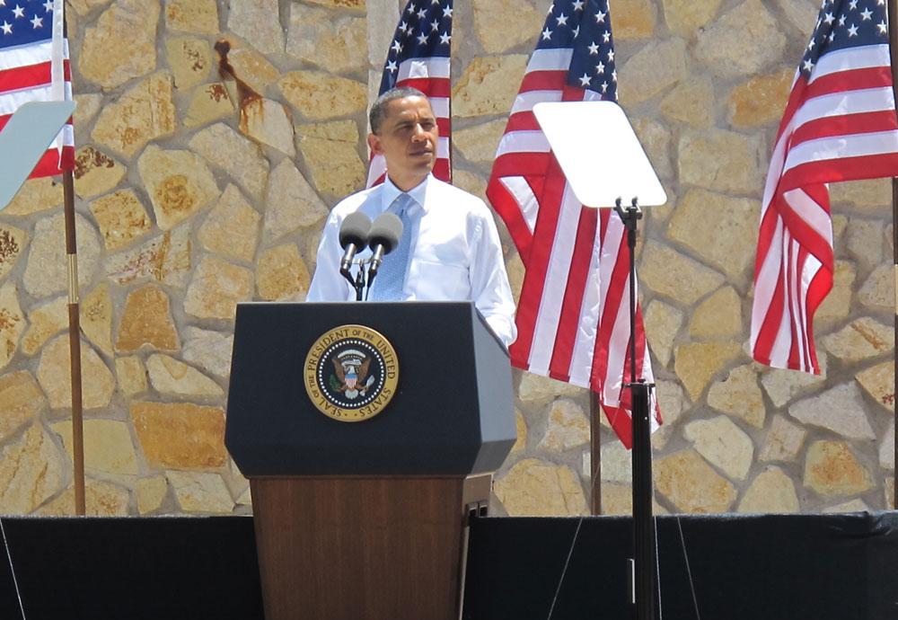 President Obama at Chamizal National Memorial. (Jacqueline Devine/Borderzine.com)