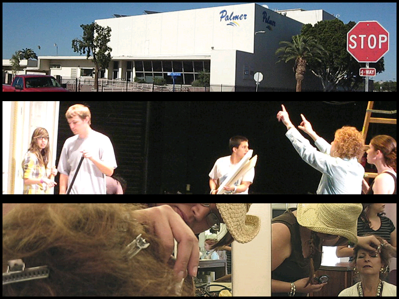 "Behind the scenes of ""Annie"" at Palmer Auditorium in Brawley, Calif."