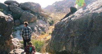 Climbers rest at Hueco Tanks State Park