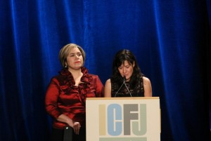 Investigative reporters Rocío Idalia Gallegos Rodríguez and Sandra Rodríguez Nieto receive the 2011 Knight International Journalism Award on Tuesday for their courageous work covering the violent crimes that have overtaken the city of Juarez, Mexico. (Hope Rurik/SHFWire)