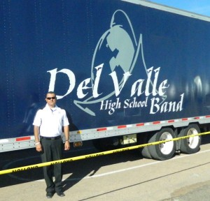 Del Valle Marching Band director, Manuel Gamez has taken the band to the state competition three times – in 2003, 2005, and 2009. (William Blackburn/Borderzine.com)