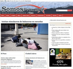 El Paso Times launched somosfrontera.com in August 19 to reach the growing Spanish speaking population coming from Juárez.