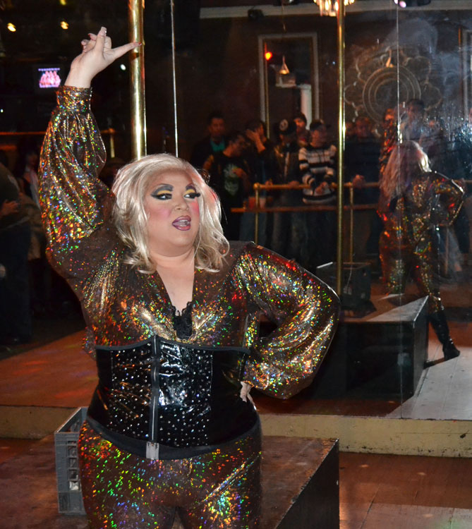 Serena has been performing at local gay clubs for the last two years. (Erica Mendez/Borderzine.com)