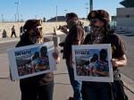 Members of the El Paso Chapter of The Brown Berets. (Robert Brown/Borderzine.com)