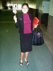 Joselyn on the day she became a citizen. (Photo courtesy of Joselyn Arroyo)
