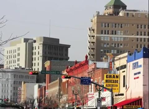 Downtown El Paso. (Alejandra Matos/Borderzine.com)