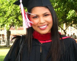 Joselyn after obtaining her master's in mass communications from CSUN. (Photo courtesy of Joselyn Arroyo)
