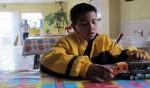 Jovani, 9, wants to be a soldier when he grows up. (Idali Cruz/Borderzine.com)