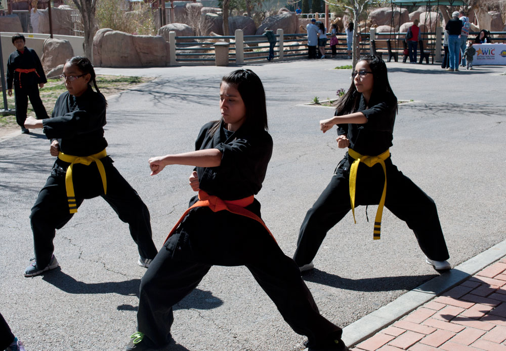 Students of Beckmon's Martial Arts Academy give a demostration to the UTEP community. (Cassandra Morrill/Borderzine.com)