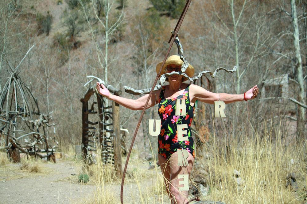 Where is Cheryl?  Cheryl is here at Gila Hot Springs. (Courtesy of Cheryl Howard)
