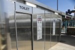 New restrooms that clean automatically are part of the renovations. (Guerrero Garcia/Borderzine.com)