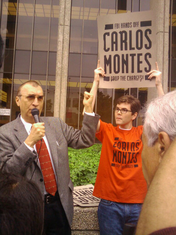 Carlos Montes after one of his court's hearings in L.A. (Courtesy of Julia Wallace.)