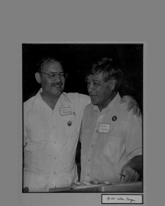 Erasmo Andrade with César Chavez, 1985. (Courtesy of the Andrade family.)