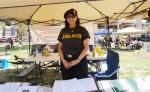 El Chuco Brown Beret, Rosamary Martinez. (Cassandra Morril/Borderzine.com)
