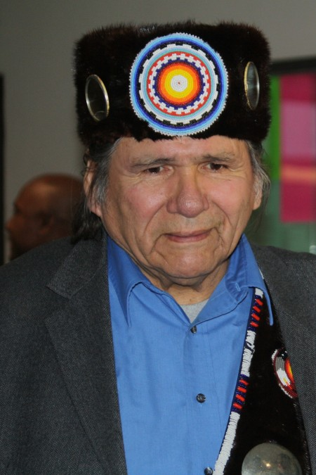 Dennis Banks, Co-founder of the American Indian Movement, 2012 at NMSU. (Cheryl Howard/Borderzine.com)
