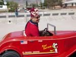 Past potentate, Nickie Keene, drives alongside tow truck. (Robert Brown/Borderzine.com)