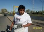 Ricardo Alanis padre de Mónica Alanis Esparza, estudiante de la UACJ, desaparecida 26 de marzo 2009. (Gloria Aime Ramirez/Borderzine.com)