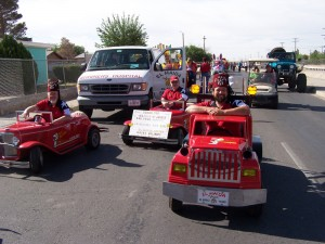 Robert Brown in tow truck ready to roll in parade. (Courtesy of Ron Smith)